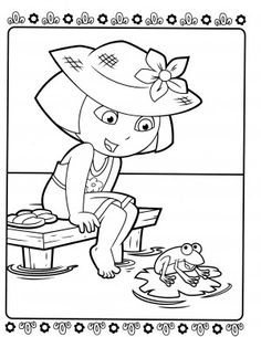 Barbie And Dora Coloring Pages