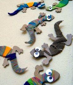 Поделки ящерицы - Сайт для мам малышей
