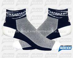 Socks designed by My Custom Socks for NAV Canada in Ottawa, Canada. Multisport socks made with Coolmax fabric. #Multisport custom socks - free quote! ////// Calcetas diseñadas por My Customs Socks para NAV Canada en Ottawa, Canada. Calcetas para Multideporte hechas con tela Coolmax. #Multideporte calcetas personalizadas - cotización gratis! www.mycustomsocks.com