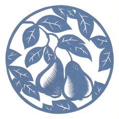 cut paper design Pair of Pears