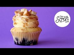 BLUEBERRY FRENCH TOAST CUPCAKES - The Scran Line - YouTube