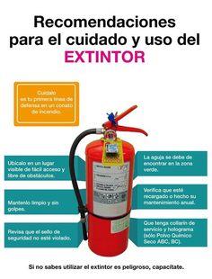 Recomendaciones para uso y cuidado del extintor