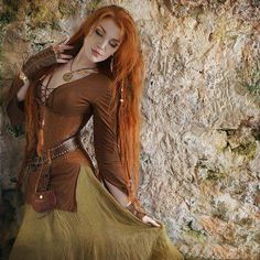 Redhaired Viking beauty.