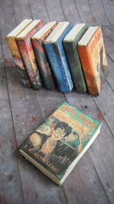 Hmmm maybe for my birthday?  Amazing!  Miniature Books --- Harry Potter. $20.00, via Etsy.
