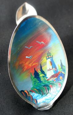 Hand Paint Art on Spoon Beautiful Home Decor Item  set by PIYOYO, $18.95