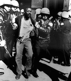 New York police detain a protestor during the Stonewall Riots in 1969. — in New York, NY.