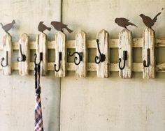 Cute fence coat rack
