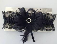 All Black Prom Garter