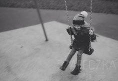 Nikola on a swing