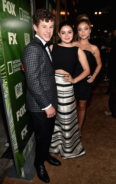 Pin for Later: It's Party Time! See All the Stars Let Loose After the Emmys  Modern Family's Nolan Gould, Ariel Winter, and Sarah Hyland took pictures together.