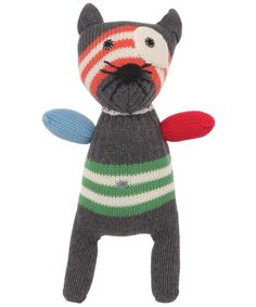 Knitted Stripe Small Cat Toy, Anne Claire Petit. Shop the latest Anne Claire Petit collection at Liberty.co.uk