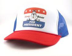 Hamm s Beer Bear for President rucker hat mesh hat snapback hat new  adjustable pick color da085113b5fb