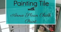 How to paint and stencil tile with chalk paint.