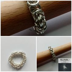 Sterling Silver 925 Chainmaille Ring Byzantine #SilverRing #HandmadeGift #VikingChainmail #ByzantinePattern #ByzantineRing #HandmadeRing #GiftForHer #HandmadeJewelry #MadeInNorway #ByzantineMaille Handmade Jewelry, Unique Jewelry, Handmade Gifts, Chainmaille, Byzantine, Jewelry Making, Wedding Rings, Engagement Rings, Sterling Silver