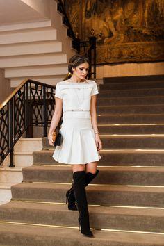 Thassia Naves look Iorane e bota Luiza Barcelos.