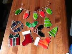 Christmas Tree Stained Glass Ornament by LittleBitofGlass on Etsy, $10.00