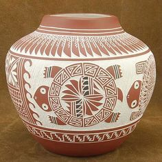 Old Indian Pottery   ... Polychrome Pueblo Indian Native American Pottery by Concho & Vallo