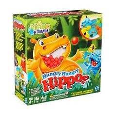 The Elefun and Friends, Hungry Hungry Hippos game from Hasbro!Kids can challenge their friends to marble-chomping fun with 4 updated Hippos in bright colours!To play, choose a Hippo . load the marbles. release all Fun Games, Games For Kids, Games To Play, Activity Games, All Toys, Toys R Us, Kids Store, Toy Store, Hungry Hungry Hippos Game