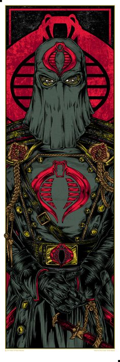 INSIDE THE ROCK POSTER FRAME BLOG: Cobra Commander & Storm Shadow Posters by Rhys Cooper