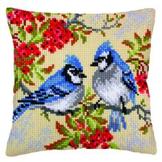 Blue Jays : Collection d'Art  Cross Stitch Cushion Front Kit : CD5238
