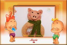 Kreativballons ♥: Anleitung: Rassel-Greifling Schweinchen für Kind s...