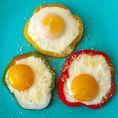 Vang uw eitje in een paprika-ring! Bron: ziplist.com