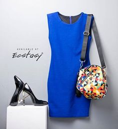 Blue Bodycon To Accentuate The Silhouette.