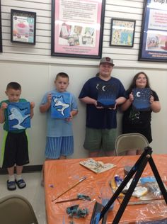 Kids class at Michael's, Salisbury Maryland. Grumbacher fine art classes.