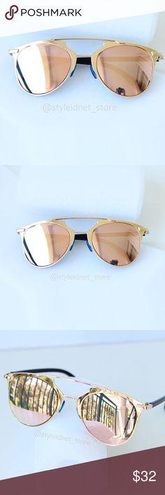 Rose Reflective Bohemian Aviators • NWOB • ❤️ BUNDLES  ❌ NO TRADES  ❌ NO Low balling!   • NWOB • Styleidnet Accessories Sunglasses