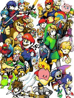 Nintendo characters medley