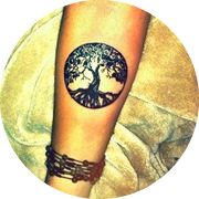 Small The Tree of Life Tattoo Design: On Inner Arm