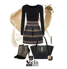 """""""She's a Stud"""" by lmello on Polyvore featuring Yves Saint Laurent, Gucci, L'Oréal Paris, Bobbi Brown Cosmetics, Kevyn Aucoin and Apt. 9"""
