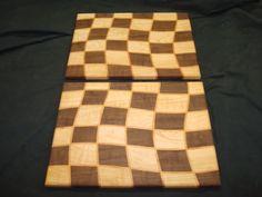 Drunken Checkerboard Cutting Board