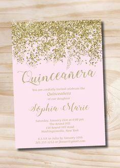 girl s birthday party glitter invitation could take a printed