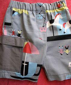 Boys Shorts Sewing Pattern - Cargo Shorts 2 to 8 years Tye Dye Diva Roupa  Menininha 3787ef5fef453