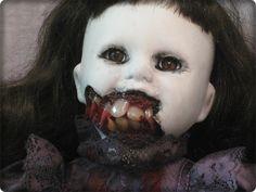 art dolls | Mourning Vampire with Brown eyes art doll Halloween horror ooak
