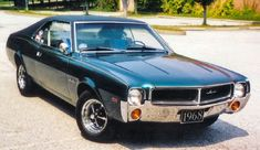 The 1968 AMC Javelin!  Only a run until 1974 for this Pony, but I've always loved these somewhat forgotten muscle cars.