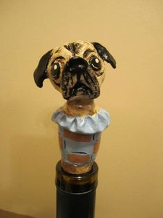 Customize Your Dog  Wine Stopper III by WolfsFolkArt on Etsy. Ugh! I need one of these of Kraken!