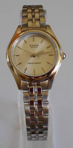 636e49e83423 Casio Analog Watch Womens LTP 1129 Silver Stainless Steel Water Resistant  for sale online