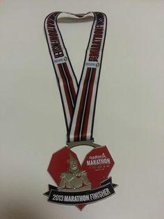 Garmin OZ finisher medal. Full marathon April 20, 2013