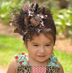 Over the top hair bow