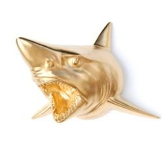 Add some ferocity to your nautical style! This hand painted gold shark would be strong and stylish anchor in any home decor! Great for the kid's room, play room, dorm, apartment, or classroom!