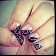 My shattered purple glitter nails :)
