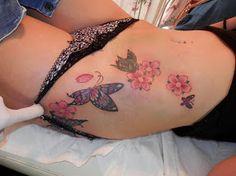 Taaje sexy mariposas y flores