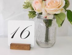 Rustic Chic Table Number Holder available at https://www.etsy.com/listing/219633558/table-numbers-rustic-wedding-table?ref=shop_home_active_3