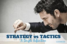 Strategy vs. Tactics: A Simple Definition