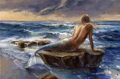 "themermaidsvillage: "" Victor Bauer http://danceswithcolors.blogspot.com/2013/12/dwc-mermaid-painter-victor-bauer.html#more """