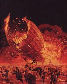 The Hindenburg by Mort Künstler