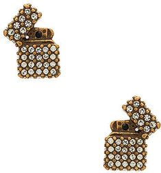 289ead6c2 Shop for Marc Jacobs Strass Lighter Studs in Antique Gold at REVOLVE.