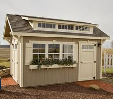 Craftsman Shed - Sheds for Sale - Amish Yard Start building amazing sheds the easierway with a collection of shed plans! Backyard Storage Sheds, Backyard Sheds, Outdoor Sheds, Backyard Retreat, Shed Storage, Backyard Chickens, Storage Ideas, Craft Shed, Diy Shed